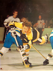 Copy of VINTAGE 1973 BOSTON BRUINS BOBBY ORR POSTER