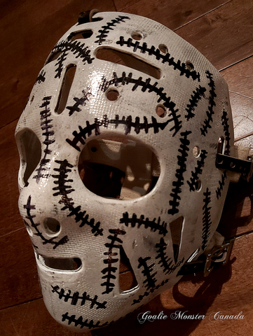 Goalie Mask - Gerry Cheevers - Boston Bruins - Stitches Mask