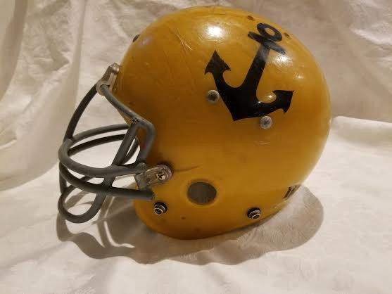 Vintage Kelley Yellow Anchor Football Helmet