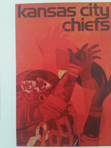 Vintage NFL Poster 1968 Kansas City Chiefs Original