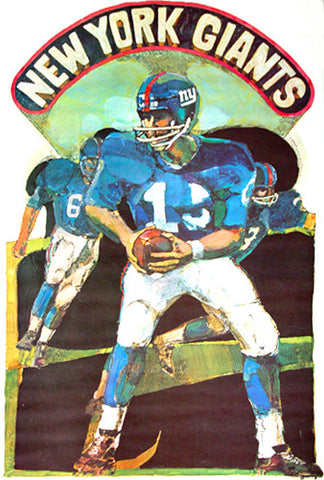 Vintage NFL Poster 1968  New York Giants