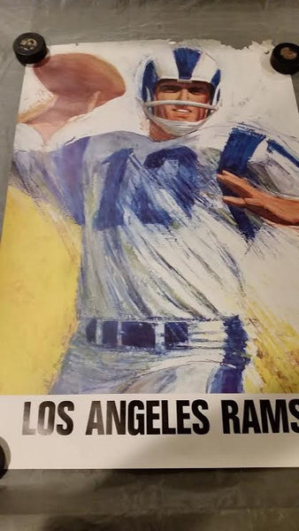 Vintage Dave Boss Los Angeles Rams poster 1960's
