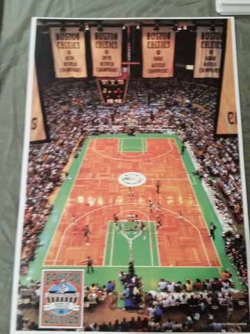 Vintage NBA Boston Celtics Poster Full Size