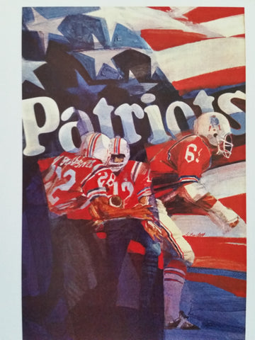 Vintage NFL Posters 1971 New England Patriots
