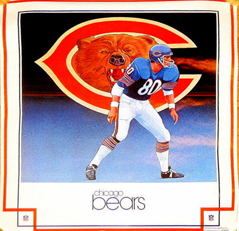 NFL Vintage Damac Chicago Bear's 1979 Poster