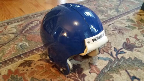 Vintage Medalist - Gladiator Dark Royal Blue Football Helmet Jan 1976