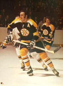 VINTAGE 1973 BOSTON BRUINS Phil Esposito POSTER  18 X 24 Original