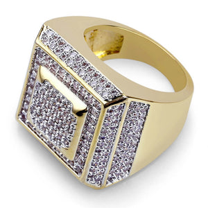 Iced Out Micro Pave CZ Square Face Ring