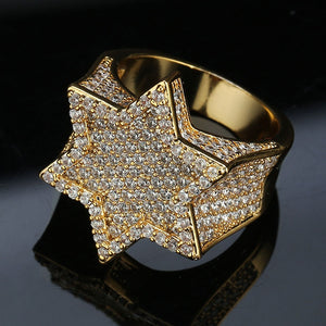 Iced Out Star Of David Ring
