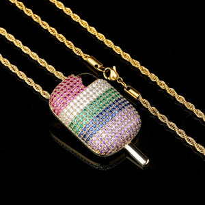 Iced Out Ice Cream Pendant