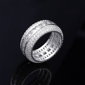 Center Baguette Micro Pave Ring