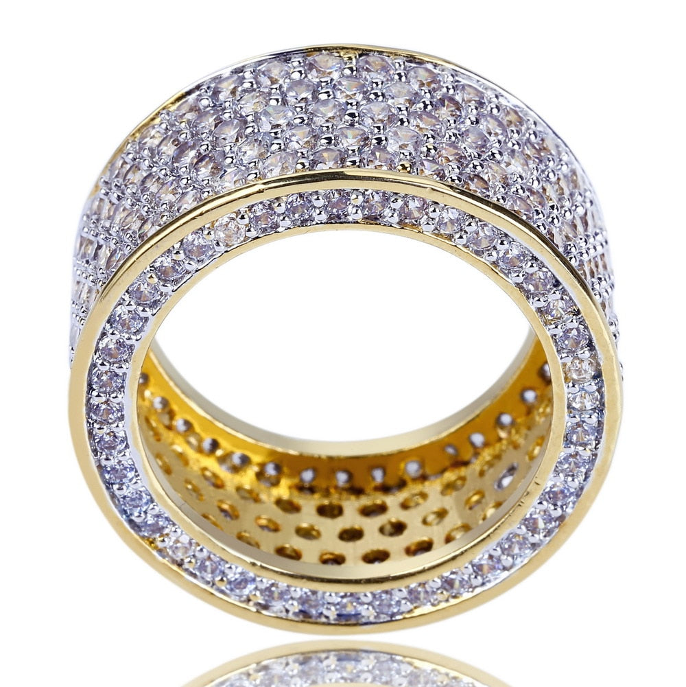 Micro Pave Edges CZ Ring