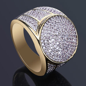 Iced Out Micro Pave CZ Bling Ring