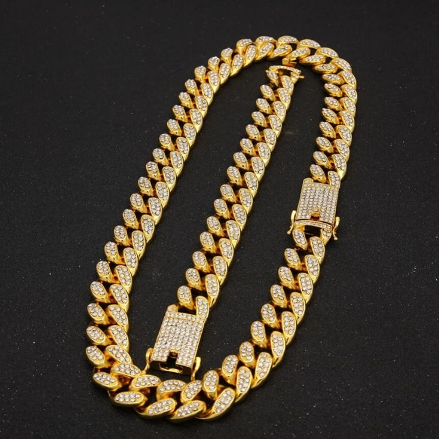 20mm Iced Out Heavy Cuban Link Chain and Bracelet Set