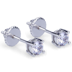 4mm CZ Stone Stud Earrings