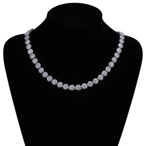 10mm Round Cubic Zirconia Chain