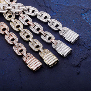 15mm Iced Out Mariner Link Chain