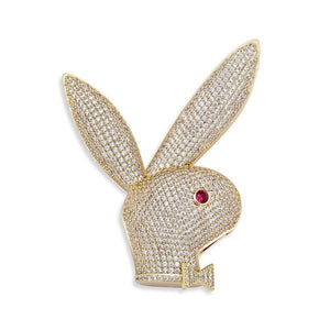 Iced Out Rabbit Head Pendant & Chain