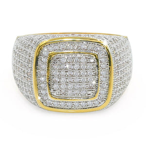 Iced Out Micro Pave Rounded Square Ring