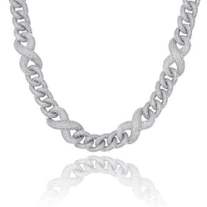 14mm Iced Out Heavy Infinity Link Chain