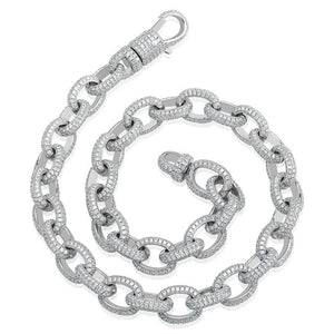 15mm Iced Out Twisted Link Chain