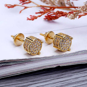 Iced Out Micro Pave Stud Earrings