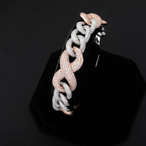 14mm Iced Out Infinity Link Bracelet