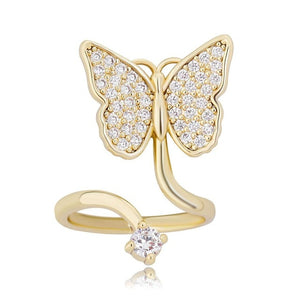CZ Butterfly Nail Ring