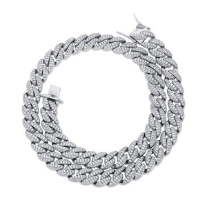 9mm Iced Micro Pave Cubic Zirconia Chain