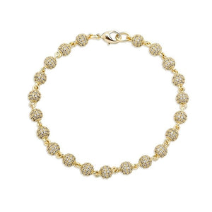 6mm Iced Out Round Ball Bracelet