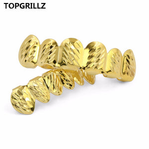 Diamond Cut 6 Tooth Top & Bottom Grillz Set