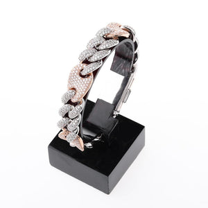 16mm Iced Out Figaro Bracelet