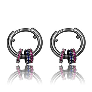 13mm Round Cubic Zirconia Charm Earrings