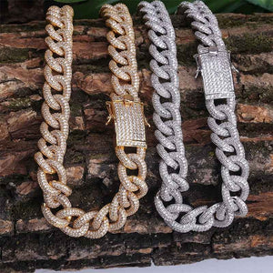 15mm Heavy Cuban Link CZ Chain