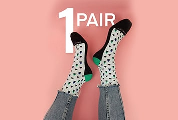 PROMOTION - $5 - 1 Pair - Sock of the Month Club