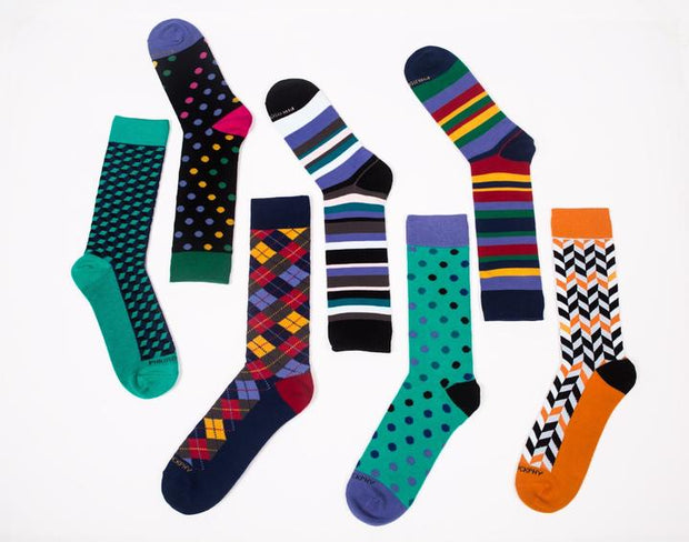 Sock of the Month Club-6 Months Prepaid-1 Month FREE