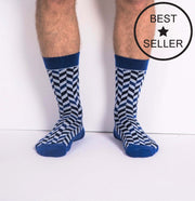 Socks - Very Herringbone - Blue