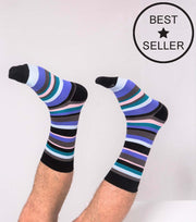 Socks - Standard Stripes - Sky