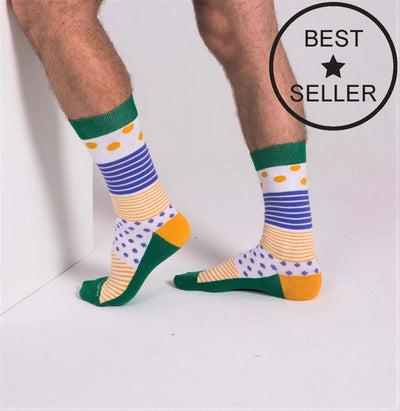 Socks - Even More Stripes - Green