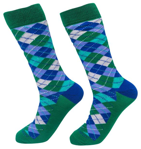 Socks-Argyle-Cool-Patterns-Crew-Socks-green