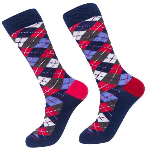Socks-Argyle-Cool-Patterns-Crew-Socks-red