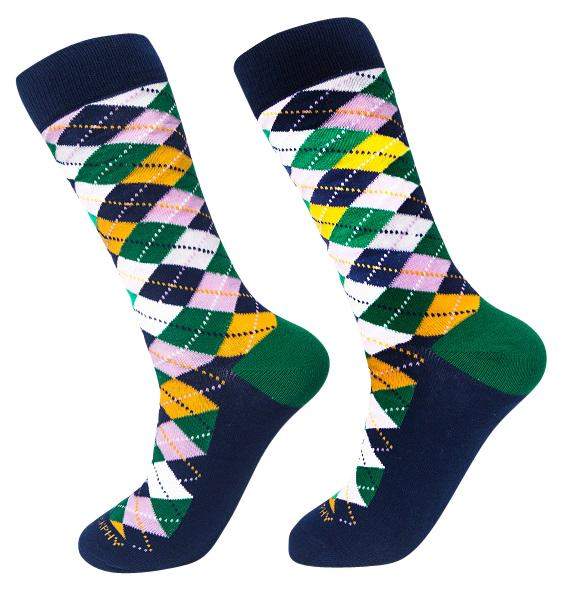 Socks-Argyle-Cool-Patterns-Crew-Socks-white