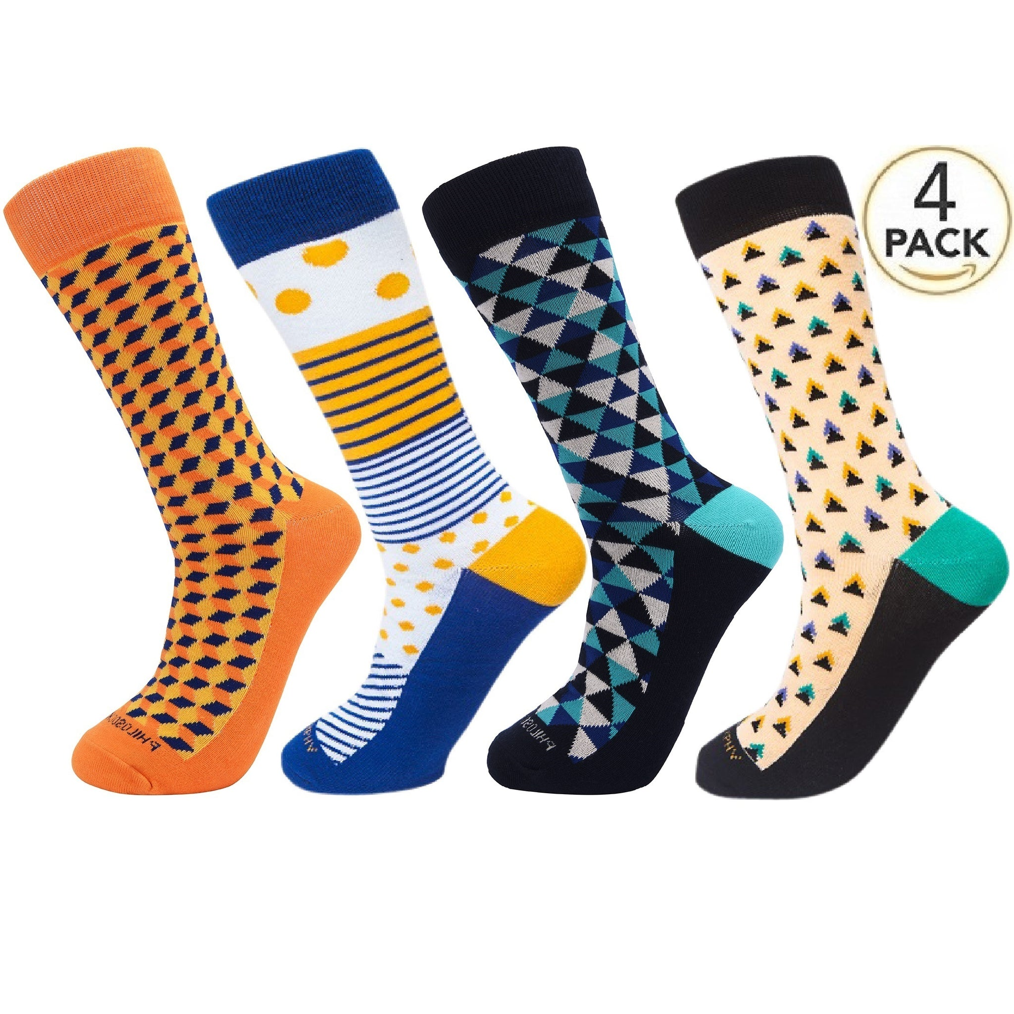 Assorted Socks (4 Pairs) - New Designs #7