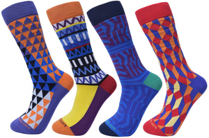 Assorted Socks (4 Pairs) - Newer Designs #1