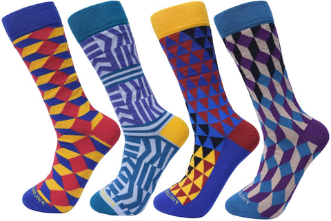 Assorted Socks (4 Pairs) - Preppy Style