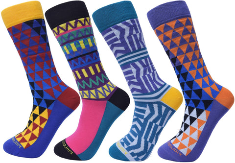 Assorted Socks (4 Pairs) - Newer Designs #6