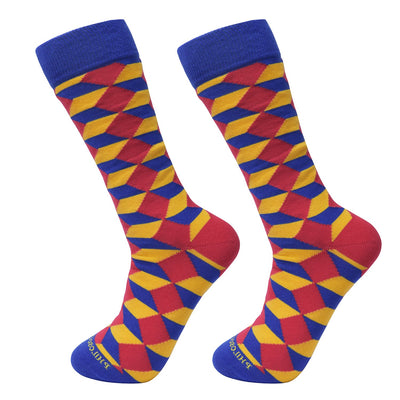 Socks-Big-blocks-Cool-Patterns-Crew-Socks-yellow
