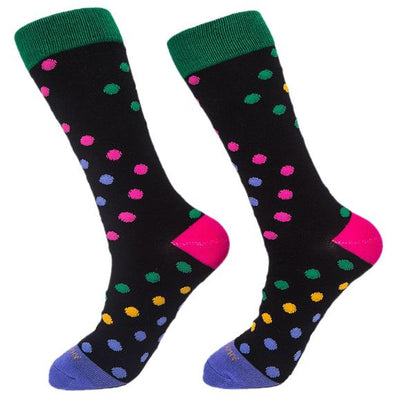 Socks-Big-Dots-Cool-Patterns-Crew-Socks-black