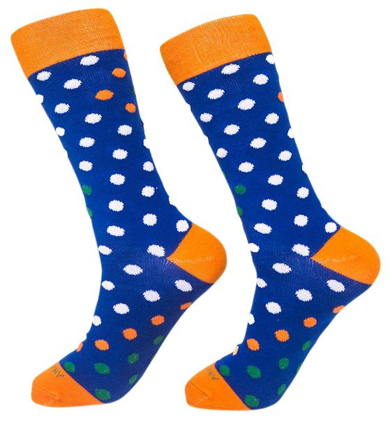 Socks-Big-Dots-Cool-Patterns-Crew-Socks-blue