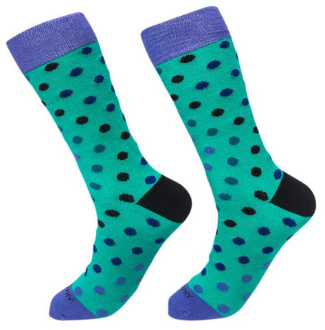 Socks-Big-Dots-Cool-Patterns-Crew-Socks-teal